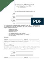 Beitritterklärung Förderverein WGG