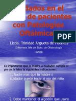Cuidados en el Hogar de Pacientes con Patologías Oftálmicas