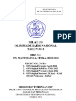 Silabus OSN 2012