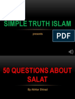 50 QUESTION ABOUT NAMAZ - QUESTION 12-21
