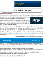 How to Solve Calculus