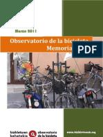 OBSERVATORIO DE LA BICICLETA EN VITORIA-GASTEIZ - MEMORIA 2011 - CEA