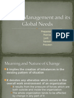 Change Management and Its Global Needs