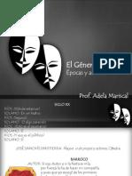EL GÉNERO TEATRAL (Epocas y Autores)