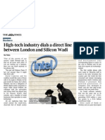 High-tech industry dials a direct line between London and Silicon Wadi part1