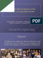 Validité de l'Atlas de Greulich et Pyle