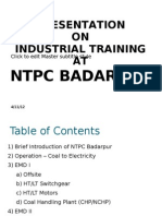 NTPC Badarpur Training