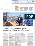 Diário Económico - Douro Azul já vendeu quatro viagens ao espaço a portugueses