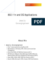802.11n and 3G Application by Jesse Liu (Convergingstream China)