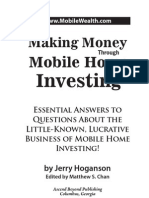 Making Money Through Mobile Home Investing (Table of Contents, Intro, Chapter 1)