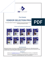 Vendor Selection Procedure