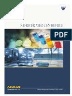 Refrigerated centrifuge manufacturers India
