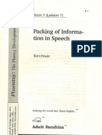 Packing of Information in Speech by KevNair