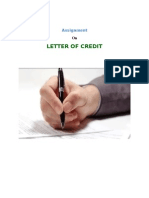 Assignment on writing a Letter of Credit