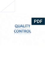 Quality Control (Lecture Notes) Dr. Osama Rashed