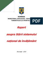 Raportul Asupra Sistemului National de Invatamant 2010.Unlocked