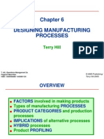 6 - Designing Manufacturing Processes- Hill - Product Profiling