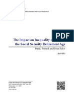 The Impact on Inequality of Raising the Social Security Retirement Age