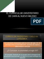 Curriculum Universitario de Cara Al Nuevo Milenio