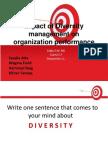 Impact of Diversity Management on Organization Performance