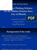 Dlsu Parking Scheme in Malate-ermita Area