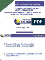 DEUDAS DEL SECTOR ELÉCTRICO Y CIERRE DE CUENTAS