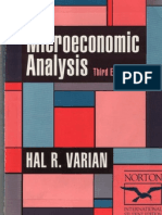Varian Microeconomic Analysis Book