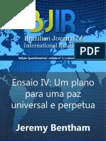 BENTHAM, J. Um plano para uma paz universal e perpétua