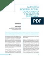 La política industrial actual