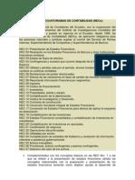 Normas Ecuatorianas de Contabilidad