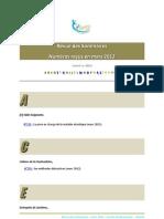 Revue Des Sommaires_mars 2012