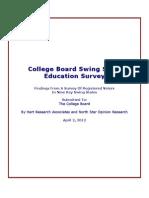 College Board Education Survey Key Findings