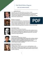 Yale World Fellows Program
