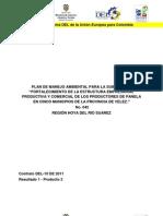 Plan de Manejo Ambiental para el Fortalecimiento de la Estructura Empresarial Productiva y Comercial de los Productores de la Panela en cinco Municipios de la Provicia de Velez