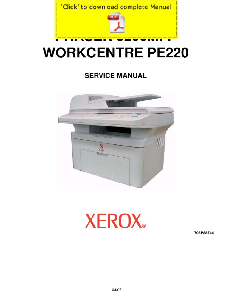 XEROX Phaser 3200MFP Service Manual Pages | Technology | Technology  (General)