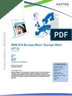 Navteq Datasheet West Eu Rns510 v7 2 En