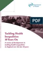 UK Dept of Health Report on Health Inequalities - May 2009