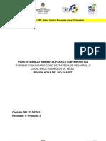 Plan de Manejo Ambiental para Turismo Comunitario como Estrategia de Desarrollo Local en la Subregión de Vélez