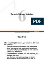 12. Dynamic SQL and Metadata