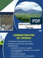 Conceptos sobre la administración de tierras