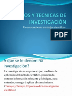 CLase I METODOS Y TECNICAS DE INVESTIGACIÓN