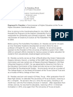 Raymund Paredes, PhD, Texas Higher Education Commissioner