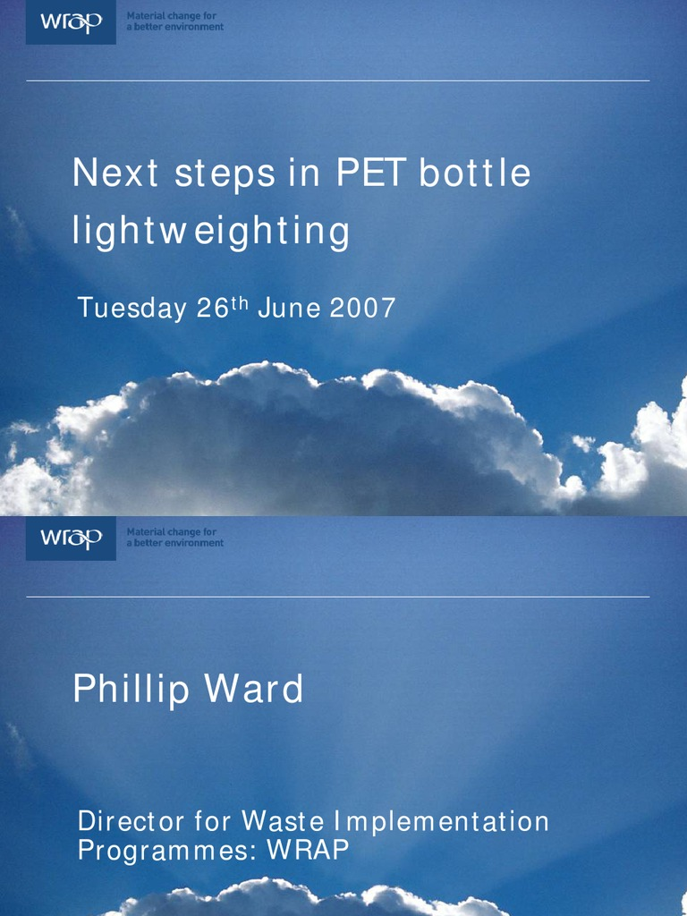 Next Steps in LW PET Bottles | Recycling | Polyester