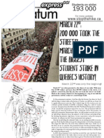 Quebec 2012 student strike - flyer