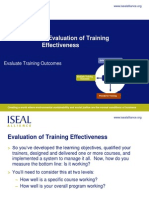 Measuring Effective Training