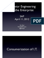 Behavior Engineering for the Enterprise (Presentation for SAP)