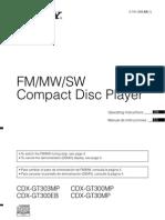 Manual Sony Cdxgt300mp