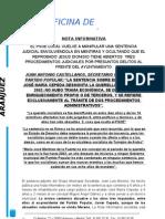 CONTESTACIÓN AL PSOE SENTENCIA DE CEPEDA