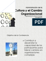 Conferencia Cultura y Cambio Organizacional