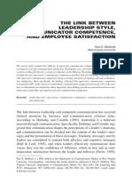 The Linkk Between Leaderships and Communication